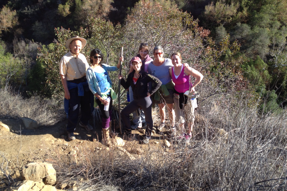 Some of us on our Saturday afternoon hike up to the Los Padres National Forest / Horn Canyon Trail