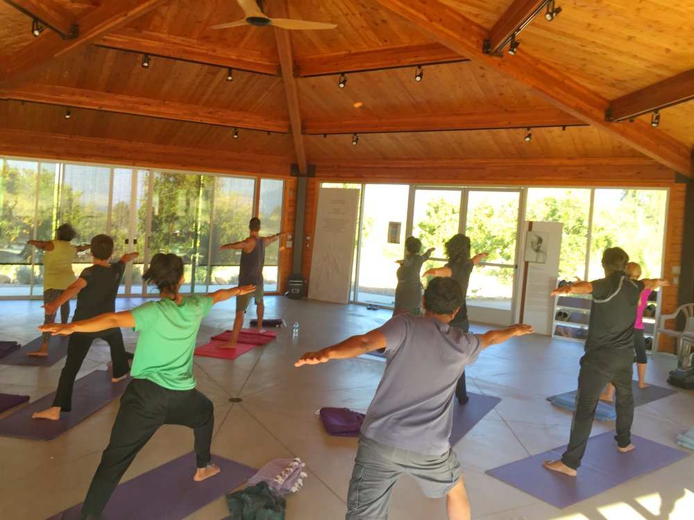 Yoga during a 2017 retreat.