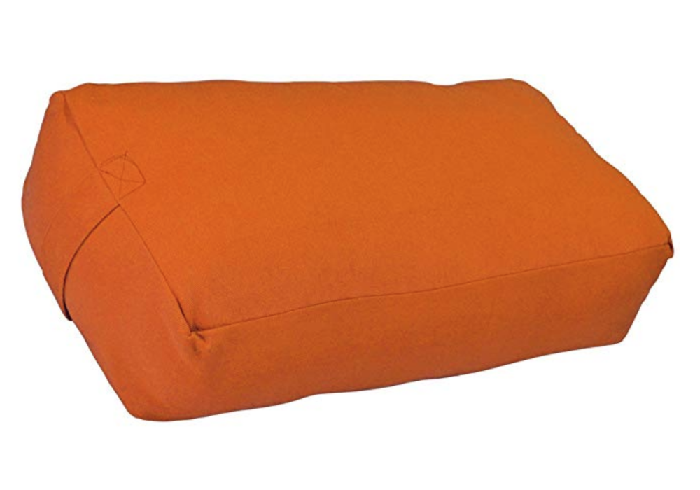 Yoga Bolster - Yoga Bolsters are great for restorative Yoga and finding a comfortable position in Shavasana. This version comes in many colors, has two handles for easy carrying, and a removable cover for easy washing.