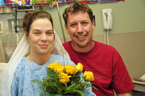 Impromptu wedding at the St. Joe Ann Arbor ED. This is a touching story of remarkable spiritual care.    Congrats!