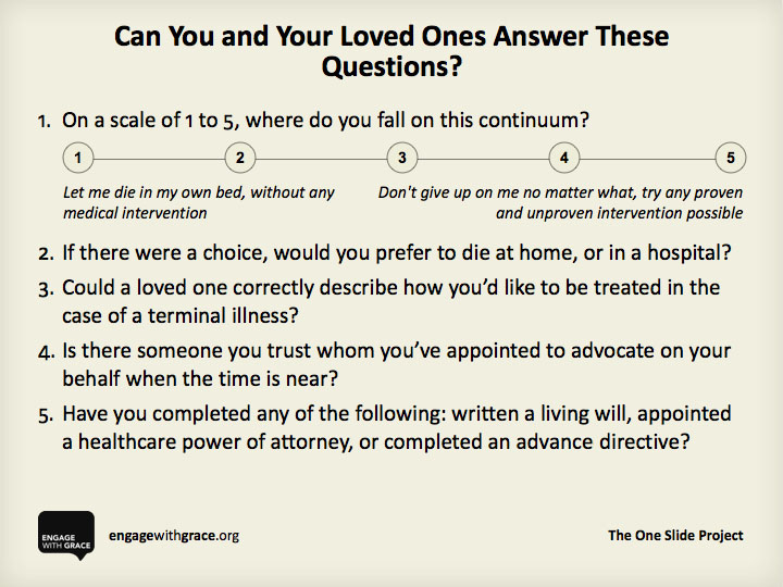 The One Slide     I mentioned this last year  - but it is worth mentioning again and again.   (via)   www.engagewithgrace.org