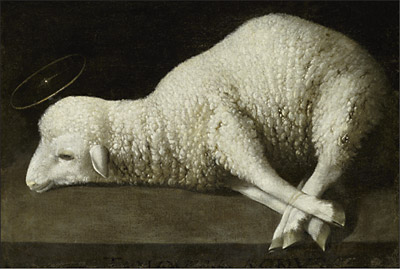 Happy Holy Week / Triduum Francisco de Zurbarán (1598-1664), Agnus Dei (Lamb of God), circa 1635-1640, Spanish. Oil on canvas. 35.6x52.1 cm. Courtesy of The San Diego Museum of Art (http://www.sdmart.org/), San Diego, California; gift of Anne R. and Amy Putnam, 1947.36. ©2009 San Diego Museum of Art. (via) JAMA — Vol. 301, No. 14, April 8, 2009