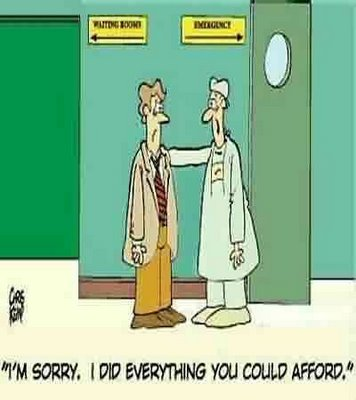 Funny and not funny at the same time.   (via)  Healthcare In Crisis