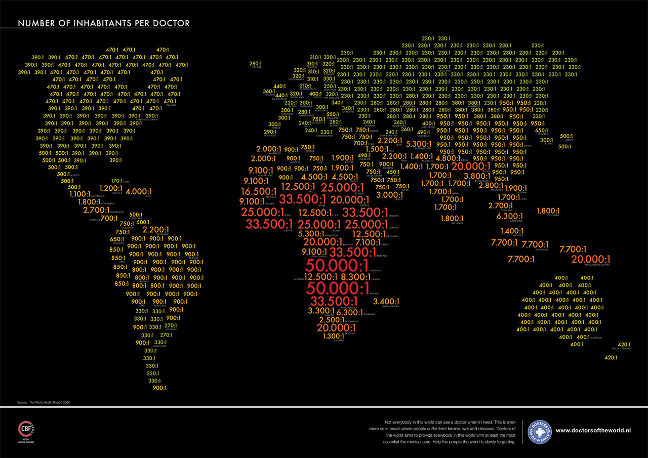 Number of Inhabitants Per Doctor   via  strangemaps.files.wordpress.com  & @_jopsa