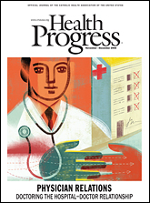 "The November/December 2008 Health Progress is now available online. Check out the intro article - ""Physician Alignment: Paths to Partnership"" - it has a great article explaining the status quaestionis of Physician Relations."
