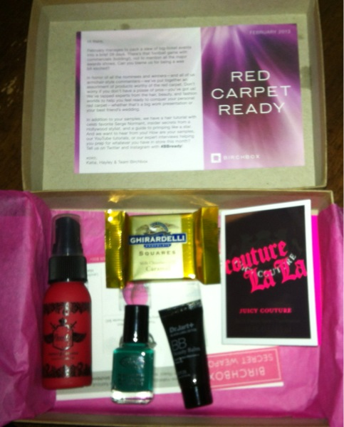 Here's my February Birchbox