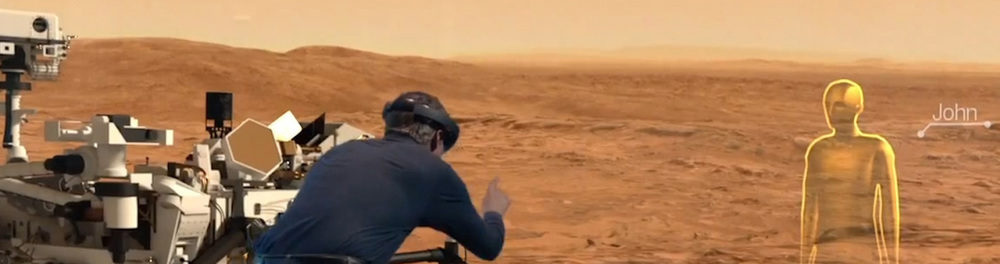 Microsoft's HoloLens allows users to explore Mars