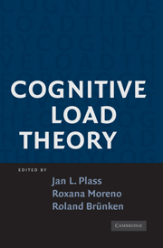 'Cognitive Load Theory' edited by Jan L. Plass, Roxana Moreno and Roland Brunken