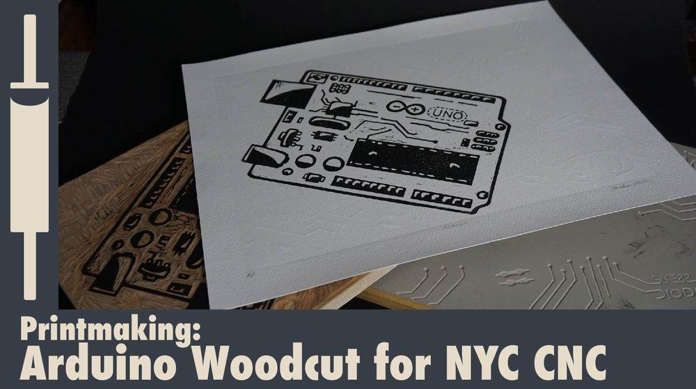 Woodcut Print for NYC CNC