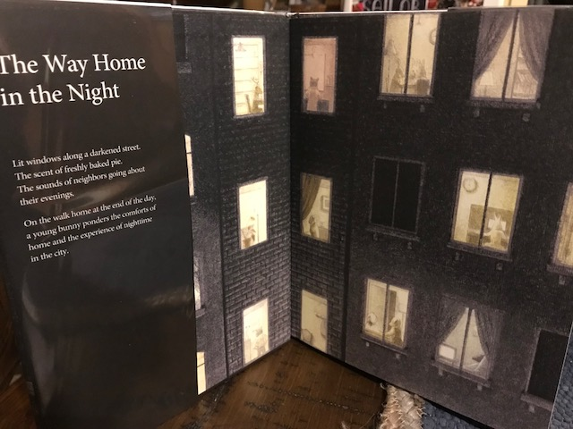 Inside front cover of THE WAY HOME IN THE NIGHT