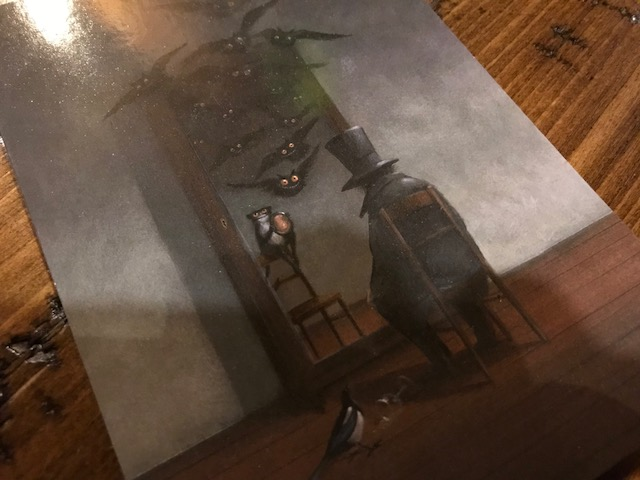 POSTCARD #1:  E.T.A. Hoffmann (Frei Nach Goya) by Gerhard Gluc