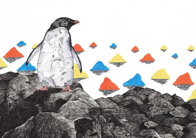 tigerlungs :      Penguin  (by  Sandra Dieckmann )