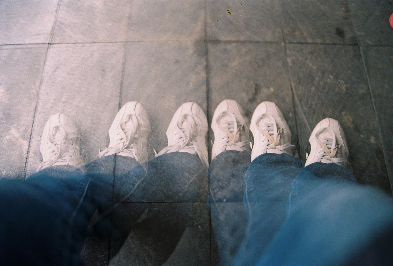 fuckyeahphotography :     3 Pairs of Legs   Taken with Nikon F80, Kodak Color ISO 200   follow me at   http://ijhehermann.tumblr.com
