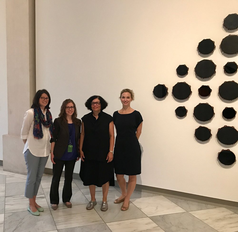 Joanna Marsh, Senior Curator of Contemporary Interpretation, Anne Showalter, Education Research Specialist, yours truly, and Sarah Newman, Dicke Curator of Contemporary Art.