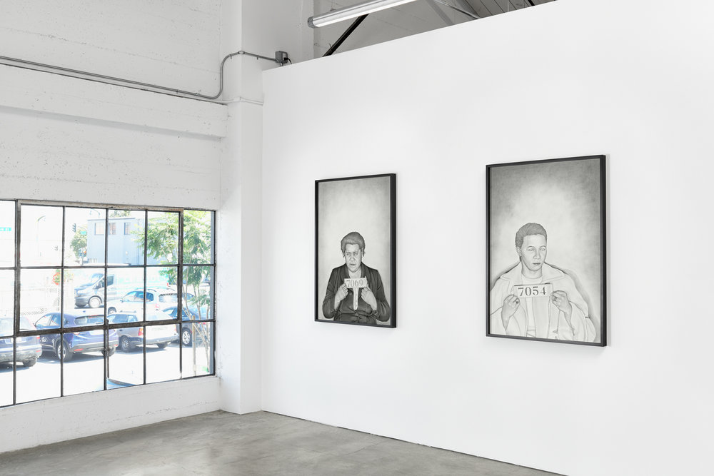 Exhibition view of  Mugshot Portraits: Women of the Montgomery Bus Boycott.  On view at Rena Bransten Gallery through October 27th.