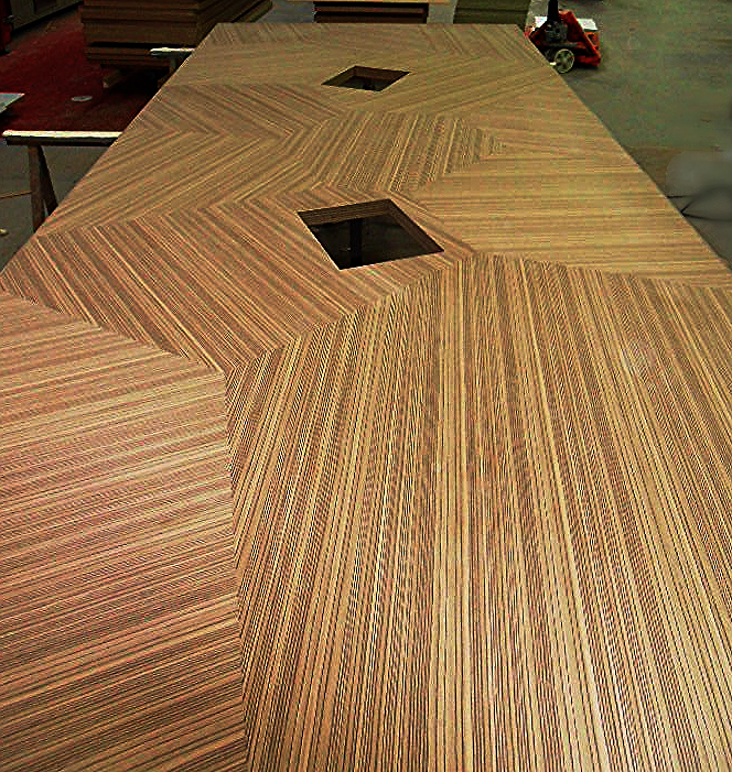 Custom veneer table