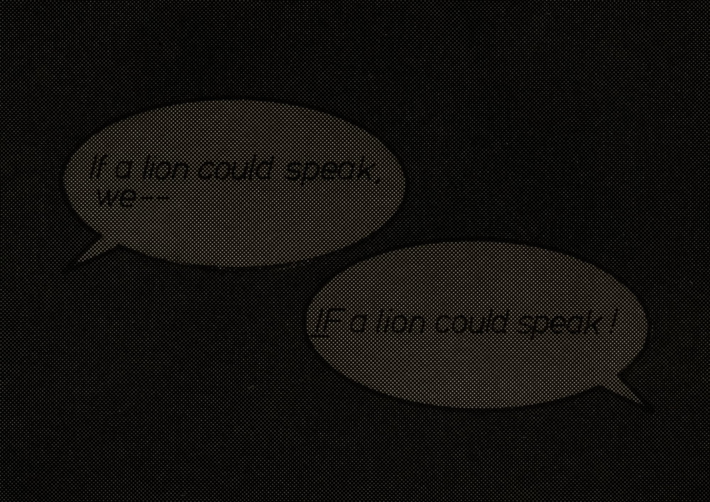 Detail  If a Lion Could Speak .