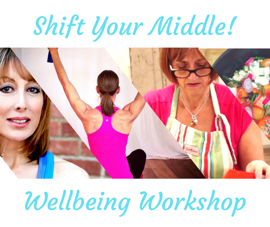 *******  Sunday June 11th - This Workshop has now ended - watch this space as             It will be re-scheduled in the coming months!                                  *******  Previously....  On your marks, get set, go! And we are off! Today is the start of a slimmer summer!  Don't panic if your body is not beach or pool-side ready, it's time to shape up and slim down! This doesn't have to be a painful process. OK - There are no quick fixes or magic weight loss pills but there are healthy lifestyle changes and dietary transitions that can help transform your body and leave you looking great. Sign up for our Shift your Middle Workshop and we'll show you the way. This year will be different, no more worrying about those skimpy summer clothes, it's time to look forward and celebrate the fact that summers almost here!  If getting fit by summer, staying healthy and not feeling deprived feels impossible, don't panic! We've put together this workshop to help you melt away unwanted pounds and get the sculpted body you want.   This workshop is made for busy people who are fed up of dieting, counting calories and yo-yoing results. It really is possible to eat well, feel well and lose weight without feeling denied, or doing exercise that makes you feel like you're at army camp!  We promise there'll be no shouting orders or food deprivation!  This is a wellbeing workshop created to coach and support you through no no nonsense advice on nutrition and exercise.  During Shift your Middle we promise you'll be learning, moving and you'll be nourished!   Learning…   Your personal metabolic rate and age (optional) – and how to shift these numbers  How to turn off your fat storing hormones  The low impact way to strengthen, tone and condition your body   Moving…    Rachel will coach you with targeted resistance and weight bearing Pilates exercises designed to strengthen key muscle groups, speed up your metabolism and tone that troublesome midriff.   Nourishing…   Your mind, your body