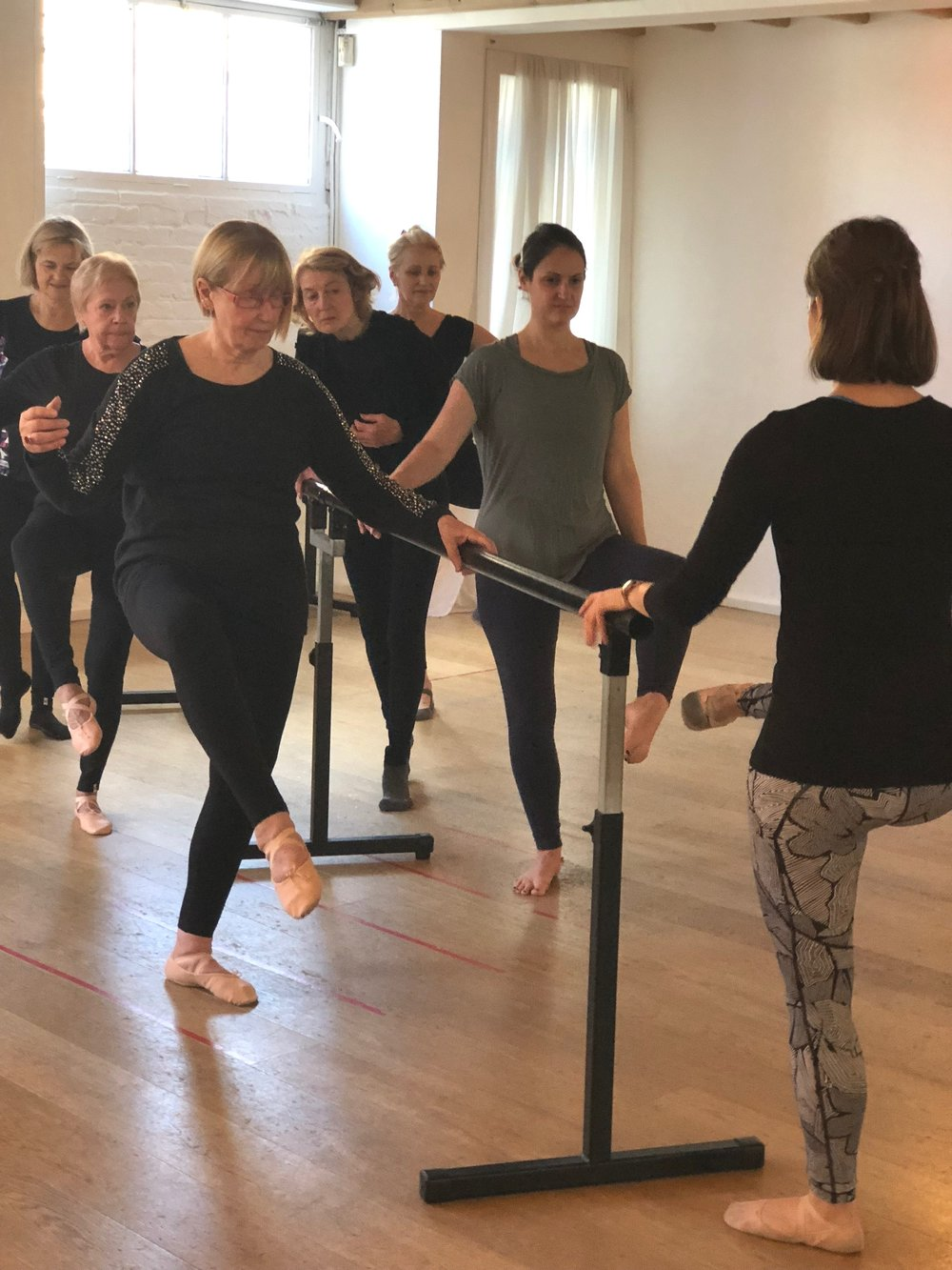 Our Introduction to the Barre class- everyone welcome!