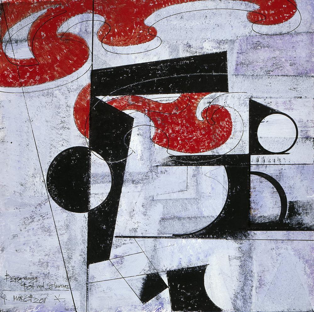 Begegnung rot mit schwarz, Nr. 1249