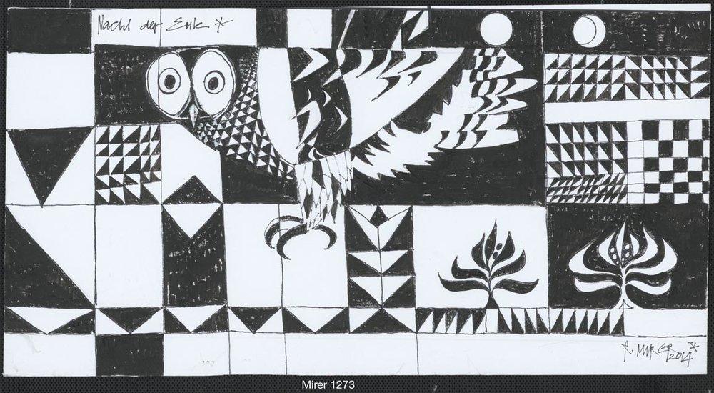 Nacht der Eule – schwarz/weiss, Nr. 1273