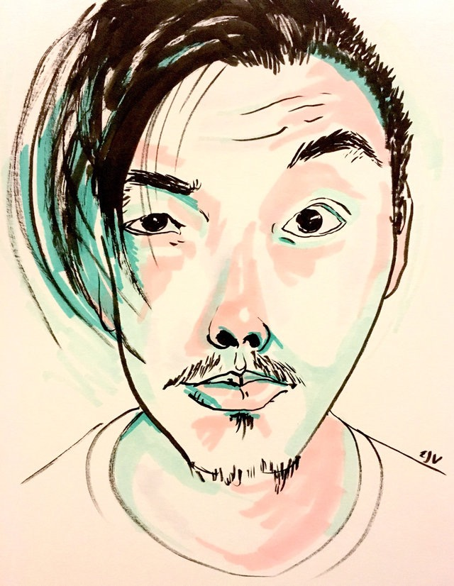 WB Lam, Zachary, pigment marker and ink, 2016
