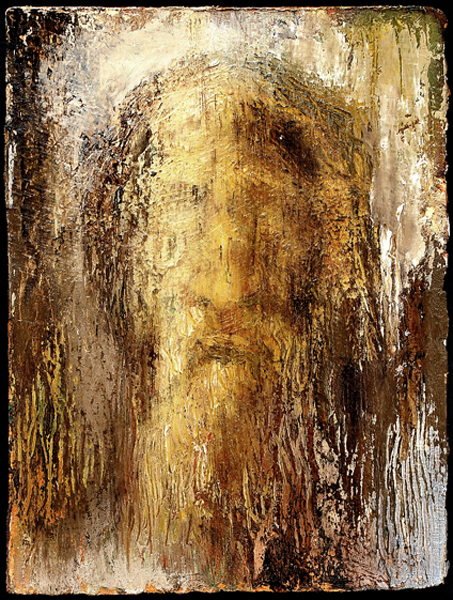 Shroud Study II - 2007 Oil on rag paper 38cm x 19cm Private Collection, Boston, MA