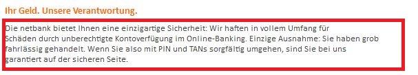 Quelle www.netbank.de (Sicherheit)