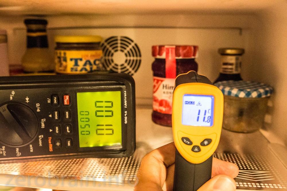 Kühlschrank: die Temperatur stimmt, egal auf was ich ziele.