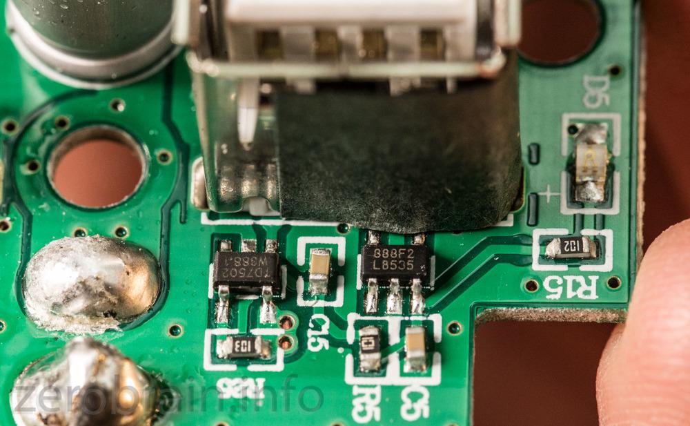USB Anschluß im Detail