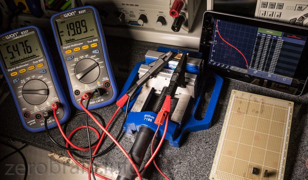 Messaufbau zum 9V Batterietest