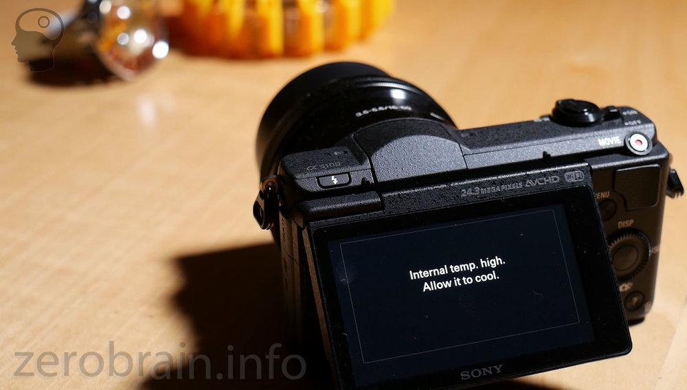 Sony A5100 Überhitzung -> Abschaltung