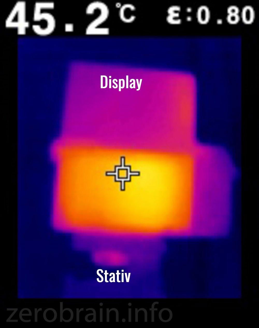 Sony A5100: Wärmebild bei Überhitzung
