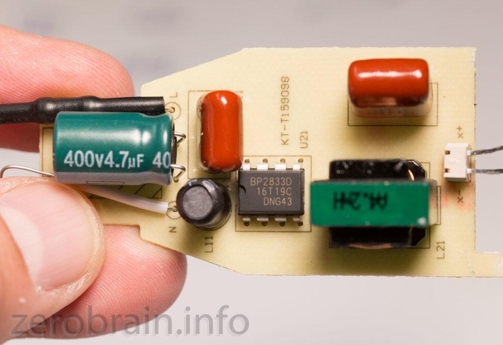 BP2833D in der Ansteuerung der Amazon Basics E27 LED