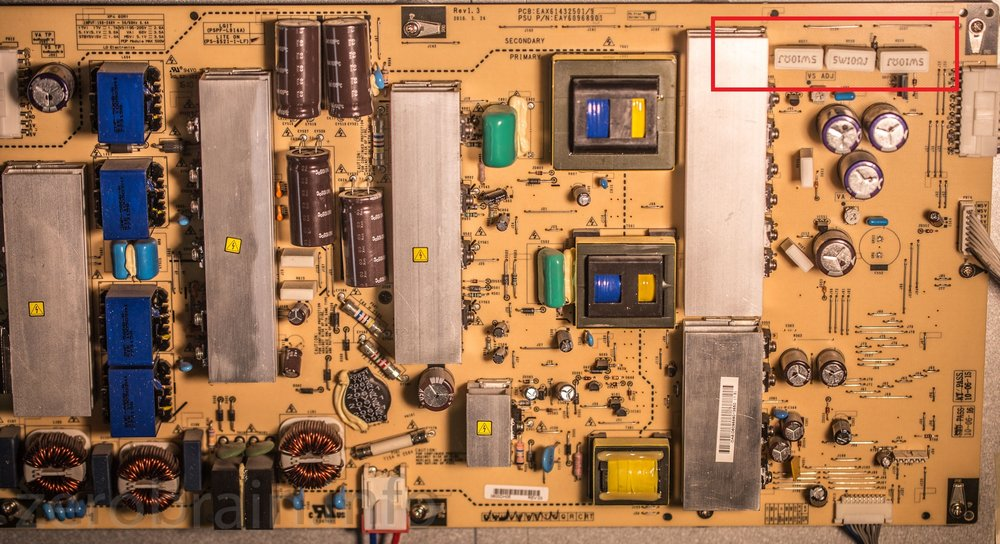 Das Netzteil des LG Plasma TVs - jetzt repariert!