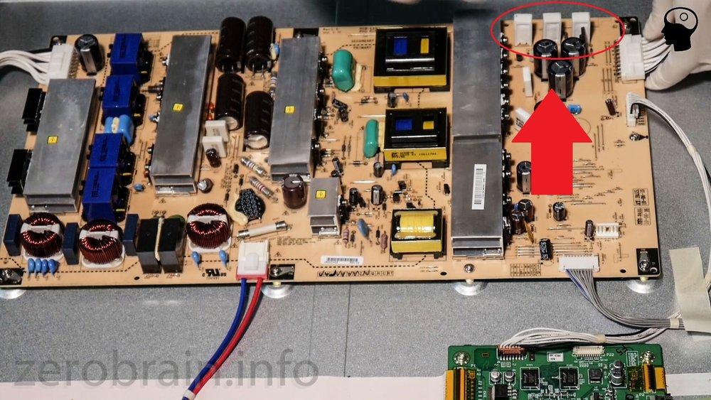 LG 60PK950 - die defekten Widerstände des Netzteils