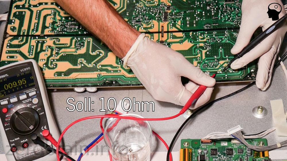 LG Plasma defekt - nachmessen der Leistungswiderstände im Netzteil
