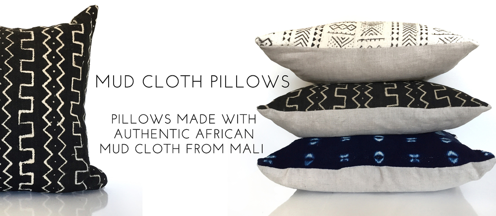 MUD CLOTH PILLOWS