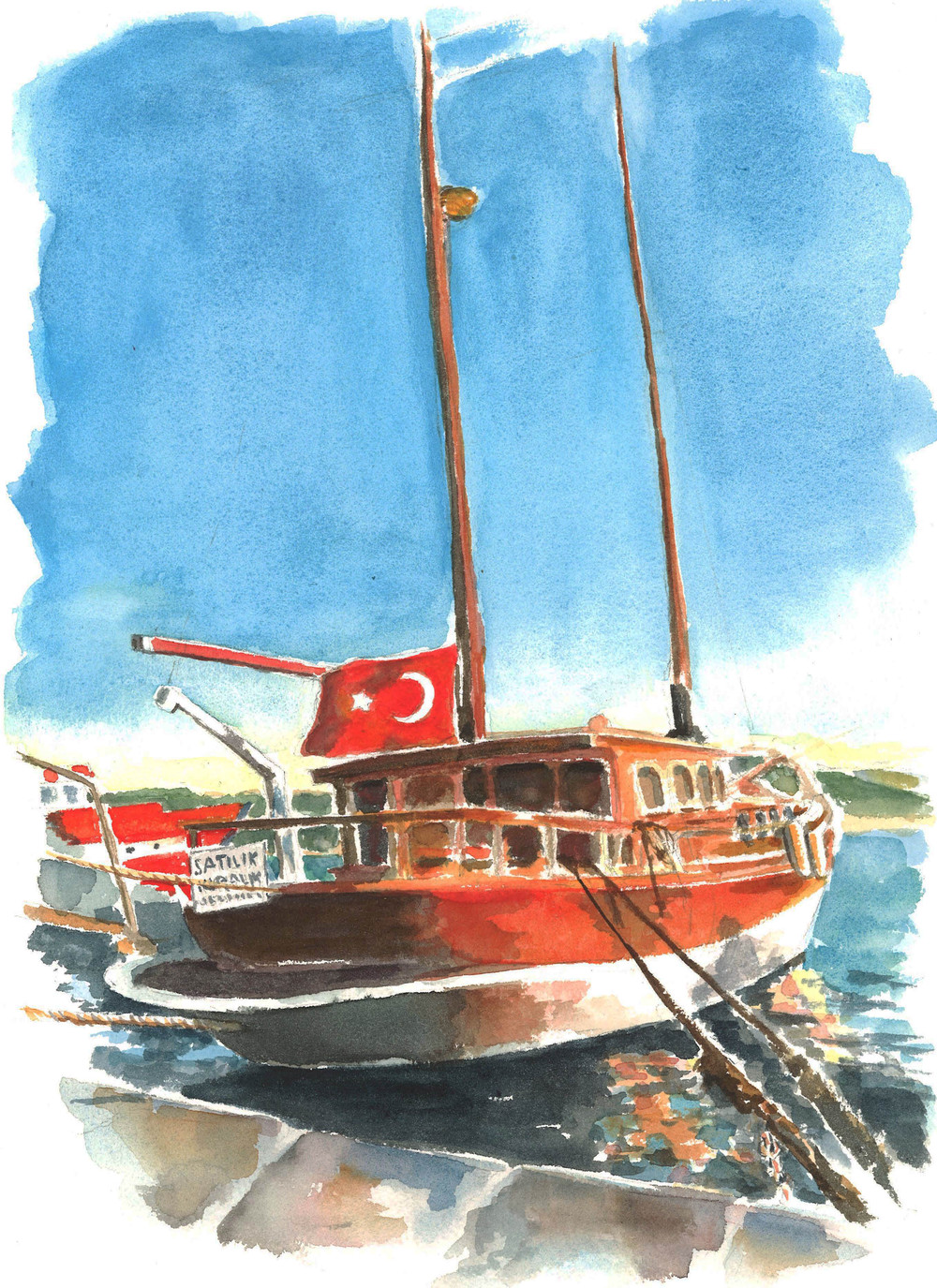 Boat with Flag in Istanbul darker.jpg