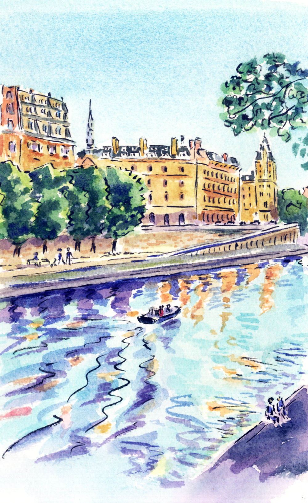 The Seine in Late Afternoon Sun