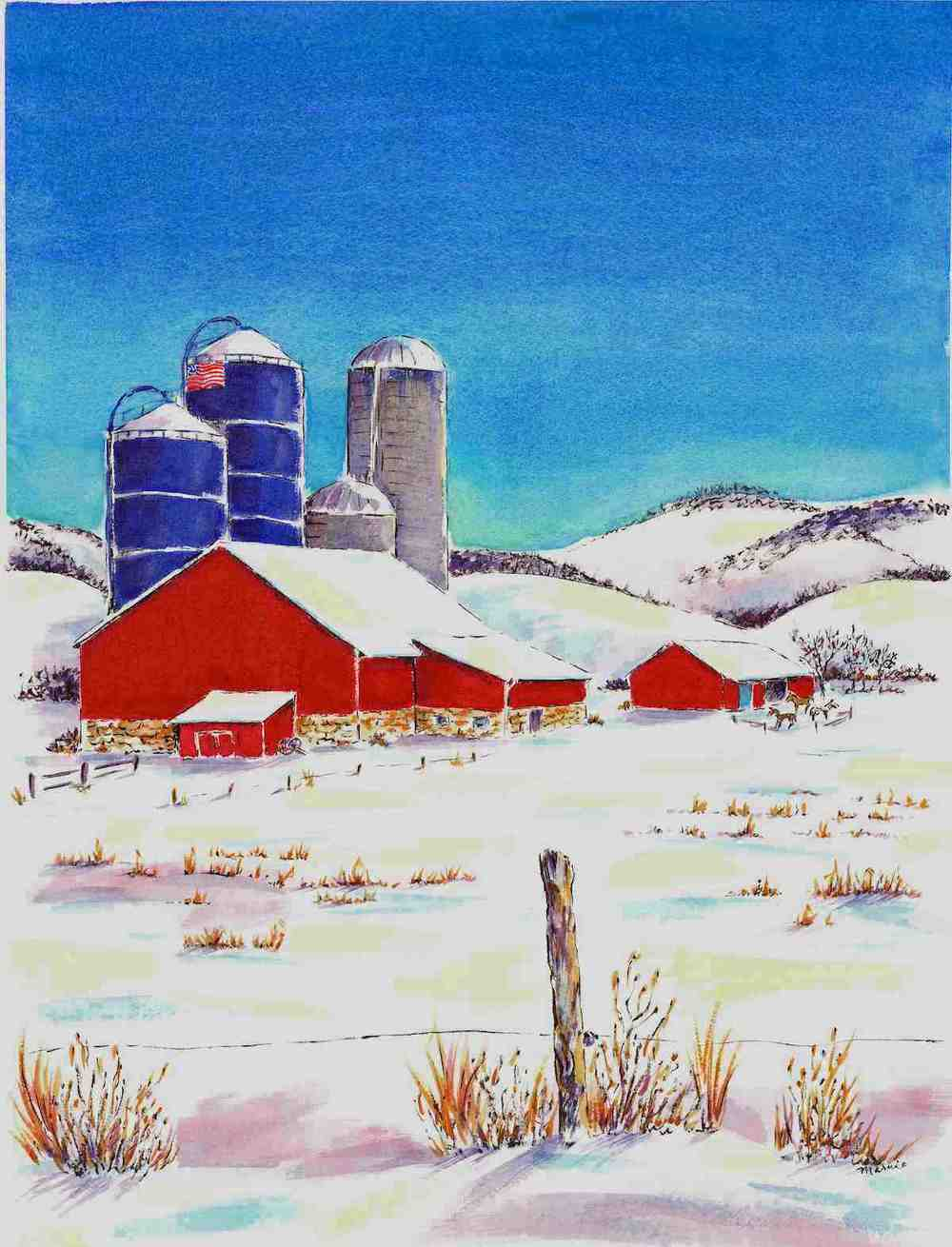 Farm in Winter on Route 20