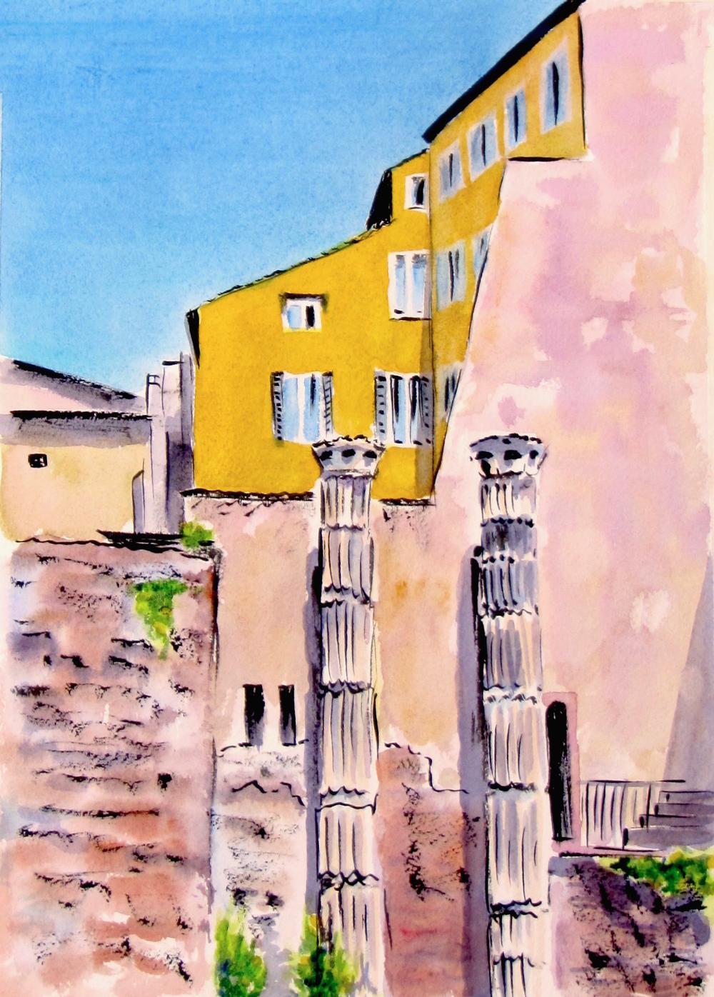 columns.yellow wall.rome.JPG