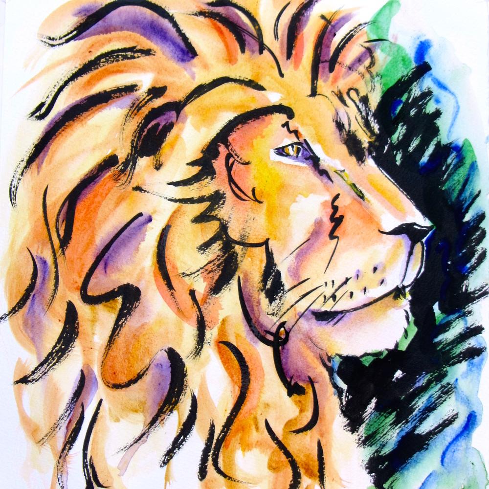 watercolor lion2.JPG