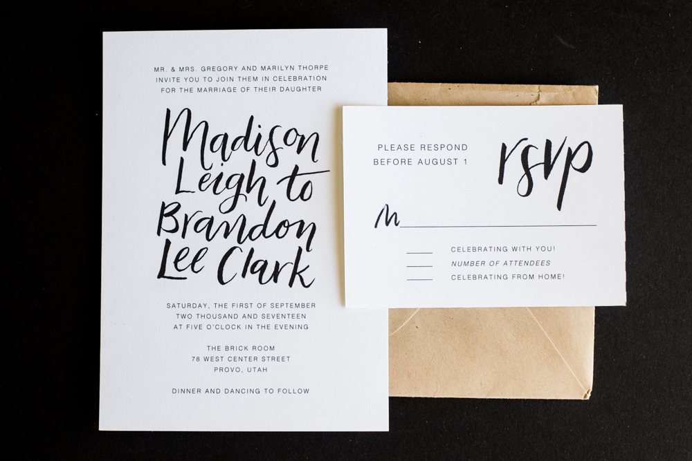 Invitations, day-of decor, calligraphy, and more. Beautifully designed paper (wood, metal, glass, and more!)goods catch the eye and give the right personal touch to your day.   START HERE