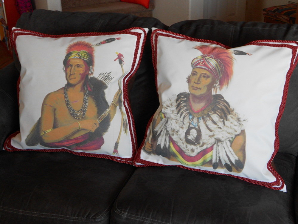 Pillows made from Canvas