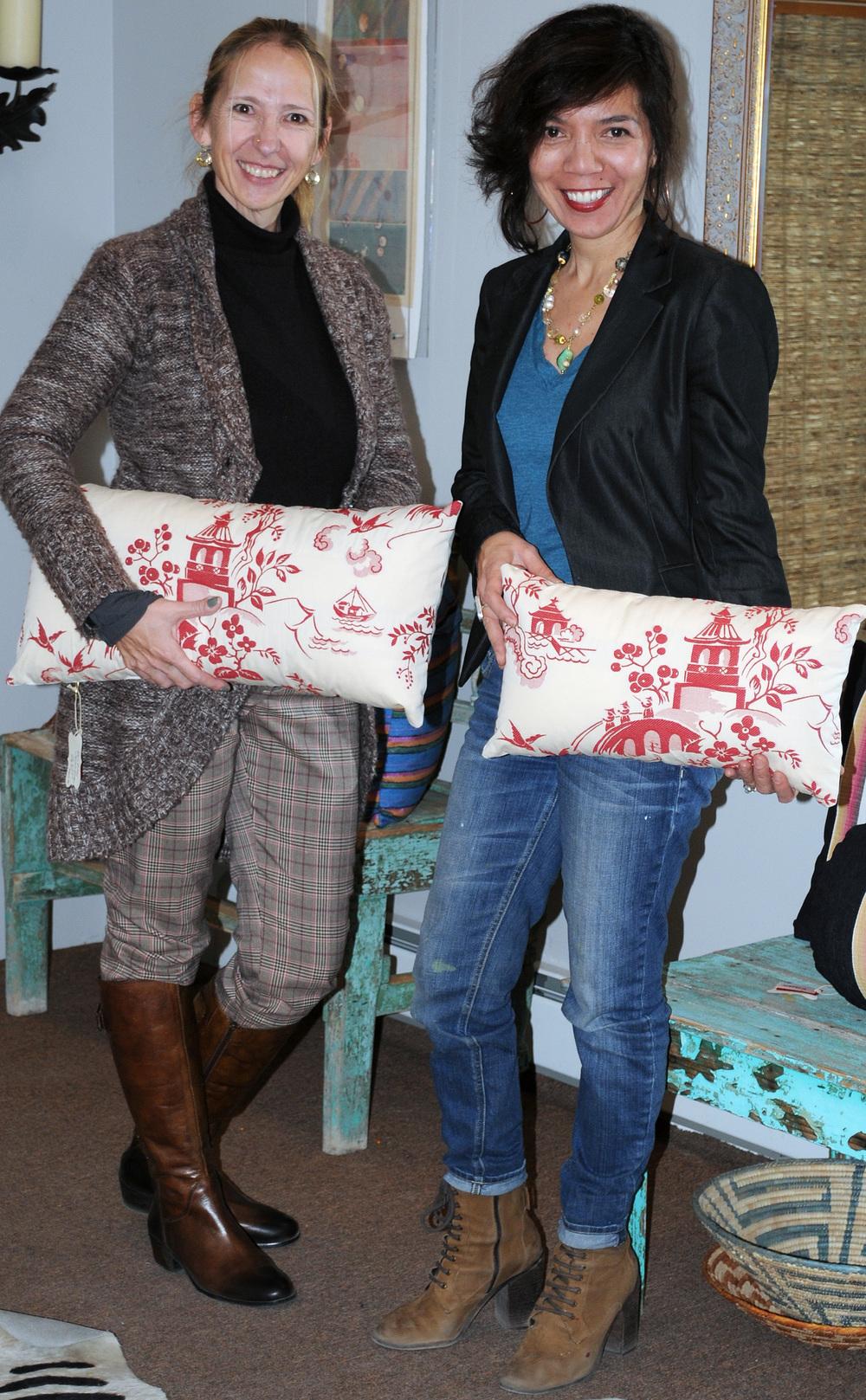 "Ande Hambuchen and Jennifer Ashton, ""Kissen""  Pillow Play in Santa Fe - An interior & fashion design collaboration"