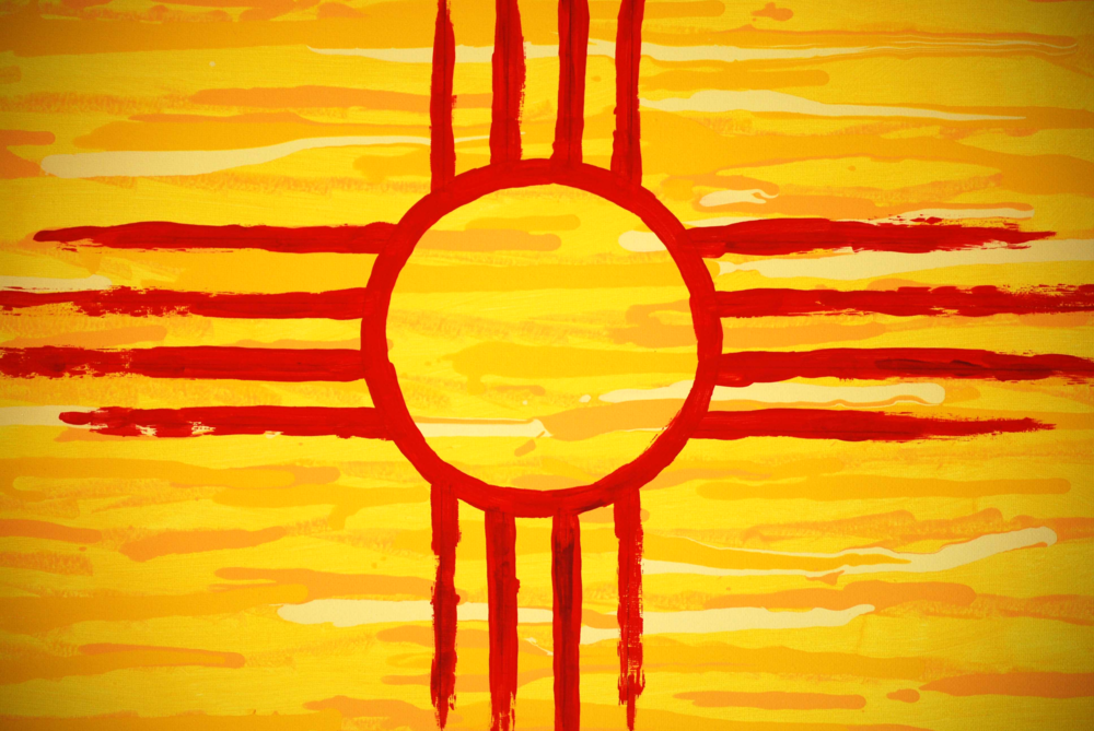 New Mexica state flag painting