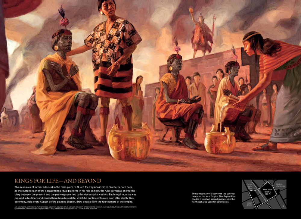 National Geographic    magazine, April 2011. Reproduced with permission. Art: Jon Foster, Jeff Osborn; Amanda Hobbs, NGM Staff.