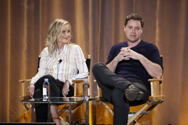 "Amy and Greg Poehler discuss their cross cultural comedy ""Welcome to Sweden."" Image courtesy NBC Universal"