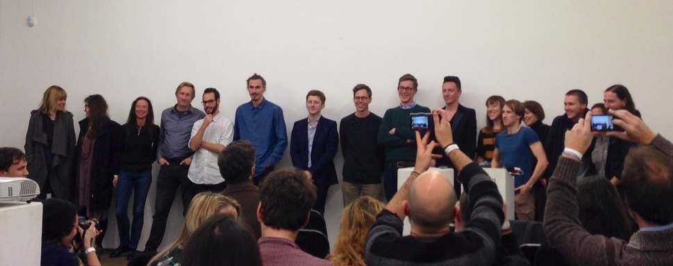 The speakers at VISUALIZEDiO 2014 take a bow. Photo by Amanda Hobbs